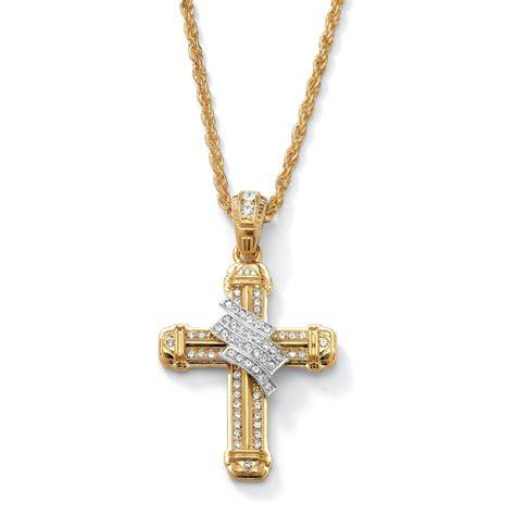 cadenas en c cadena c dije de cruz dorados c cristales hombre 1 118