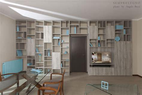 libreria tutta parete arredo open space soggiorno e zona pranzo con libreria quot a