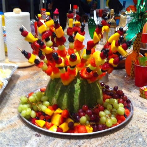 Fruit Skewers And What To Do With Left Over Watermelon Fruit Kabob Centerpiece