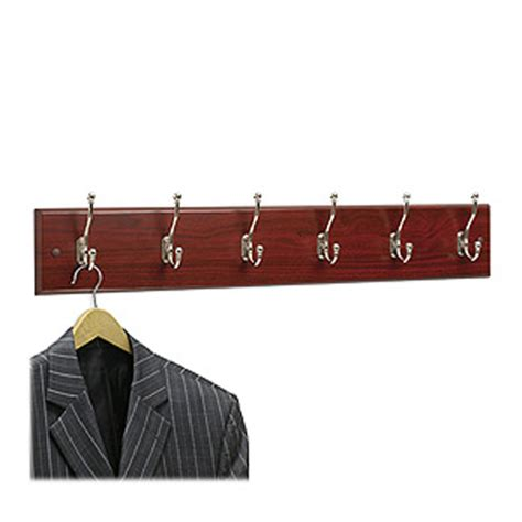 4217mh wooden wall mounted coat rack 6 hooks 35 5 quot w x 3