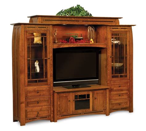 entertainment center amish boulder creek wall unit entertainment center rustic