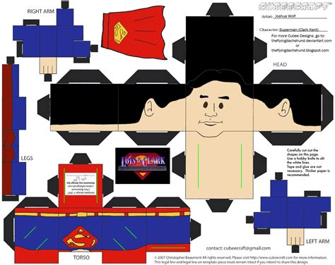 Superman Papercraft - lc2 superman cubee by theflyingdachshund on deviantart