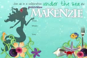 Mermaid Birthday Invitation Template by Stuff Make Mermaid Birthday Invitation