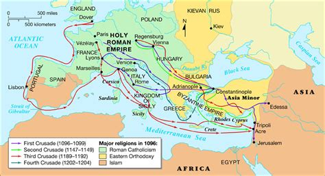 the third crusade map crusades map my