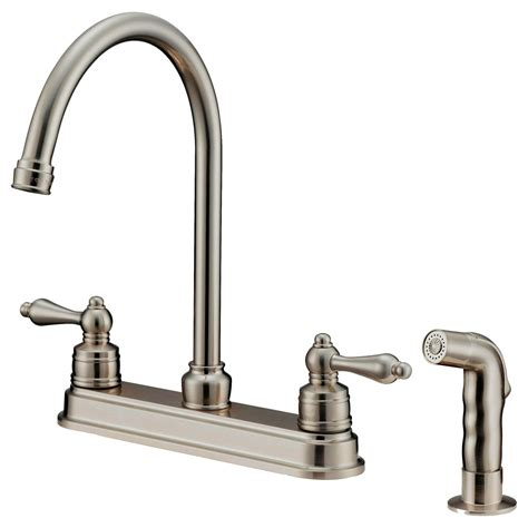 kitchen faucets com lk8b kitchen faucet with shower sprayer brushed nickel