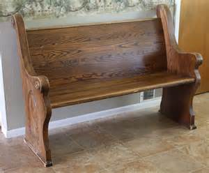 running with scissors church pew to mud room bench