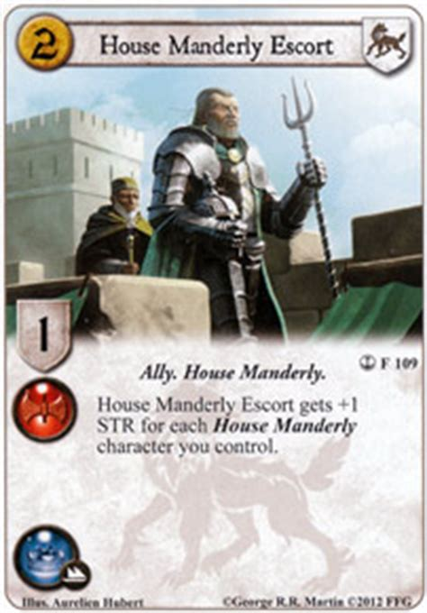 house manderly house manderly escort a journey s end game of thrones lcg game of thrones card