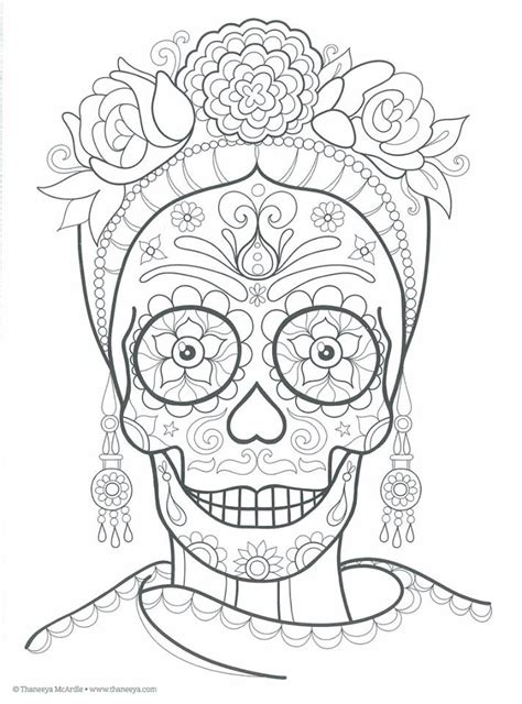 1000 images about skull coloring dia de los muertos on