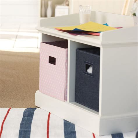 2 cube storage bench modern toy organizers by the