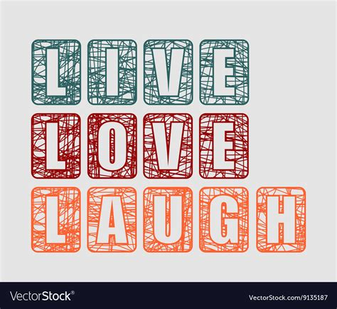 live card template live laugh greeting card template royalty free vector