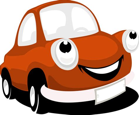 cartoon car png smiling cartoon car vector png clipart download free