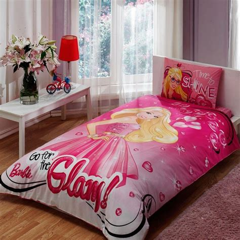 barbie bed set barbie glam bedding set twin ebay