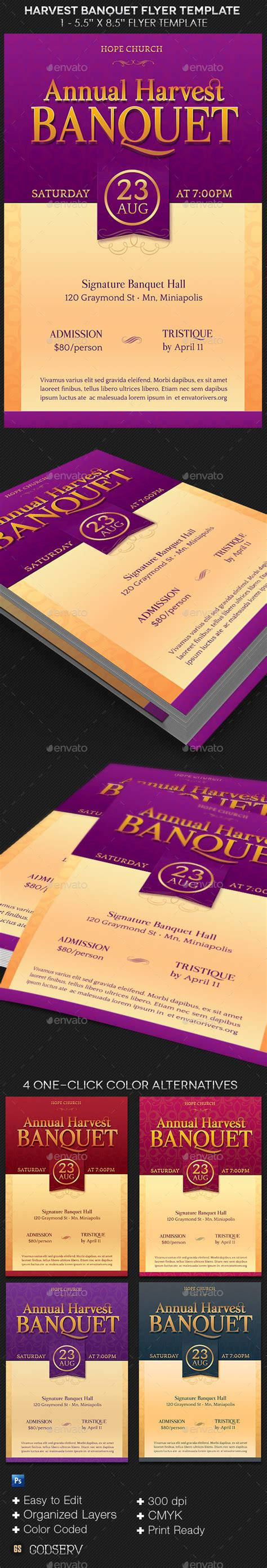 Harvest Banquet Flyer Template By Godserv Graphicriver Banquet Website Templates Free