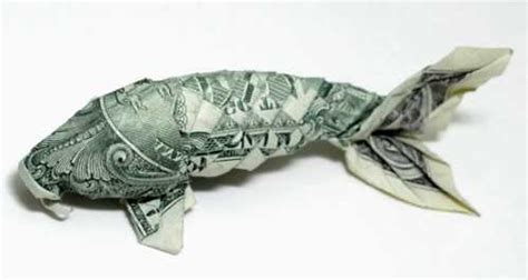 Origami Dollar Fish - wallpapers name creative one dollar bills origami and a