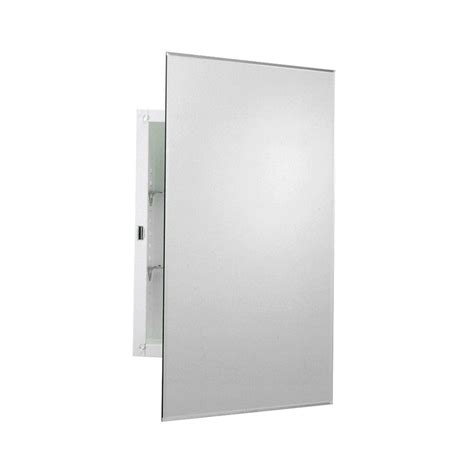 frameless mirrored medicine cabinet recessed zenith 16 in w x 26 in h frameless recessed or surface