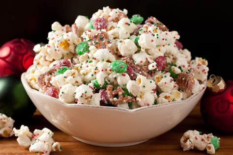 christmas food snack ideas crunch funfetti popcorn style cooking