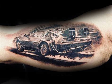 back to the future tattoo 50 back to the future designs for sci fi ink