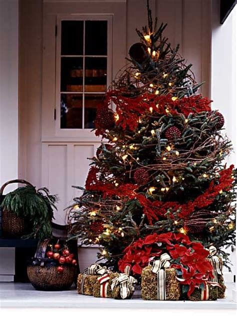 front porch christmas trees stick a tree on your front porch christmas pinterest