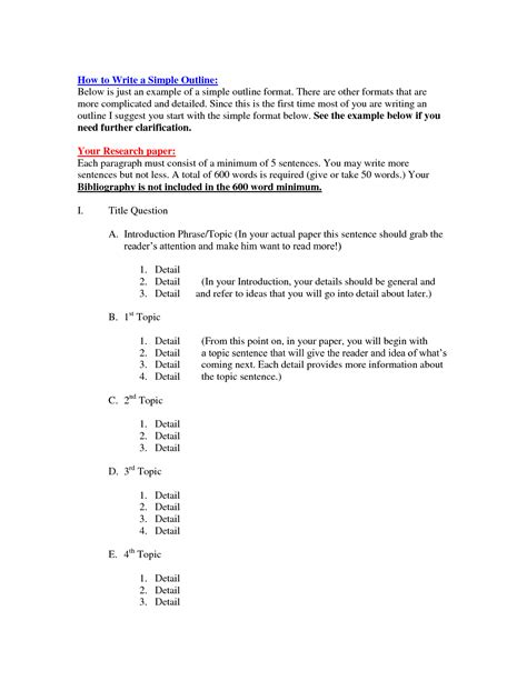 How To Make An Outline For A Paper - simple outline for research paper sludgeport657 web fc2