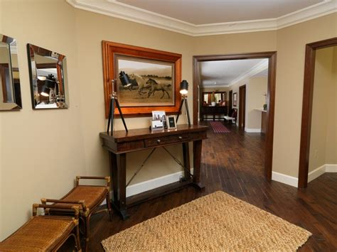 wood trim and doors traditional with stained wood floor crown molding tripod desk