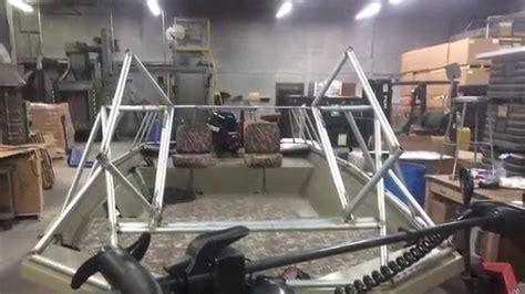low profile duck boat blind custom duck boat duck blind build 2014 youtube