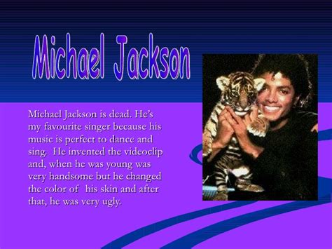 Michael Jackson Biography Powerpoint | presentation of michael jackson