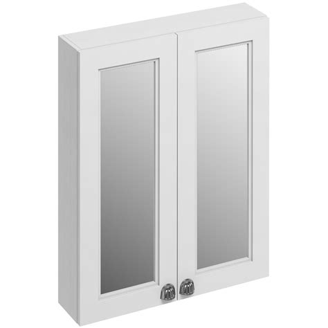 white mirrored bathroom cabinet burlington 600mm matt white double door mirror cabinet f6mw