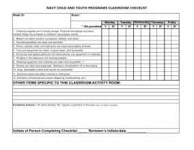2012 04 16 optional classroom checklist
