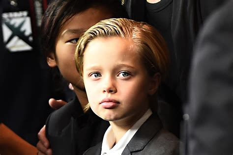 Brad Pitt And Shiloh The Most Beautiful Picture by Shiloh Pitt Pictured With At Kung Fu Panda