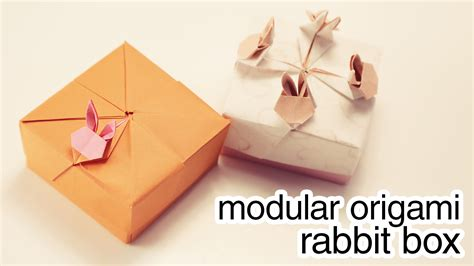 Modular Box Origami - modular origami rabbit box tutorial paper kawaii