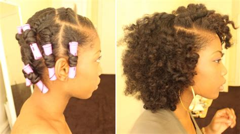 perm left to dry naturally on medium to long hair flat twist out on dry natural hair perm rods youtube