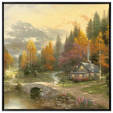 framed wall murals the valley of peace 36 x 36 framed canvas wall murals