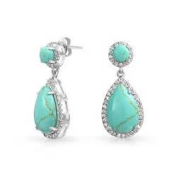turquoise earrings teardrop blue turquoise drop earrings cubic zirconia