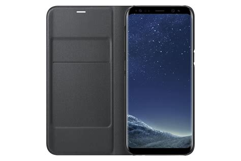 Samsung Galaxy Led samsung galaxy s8 led view wallet black cell phones accessories