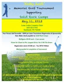 golf flyer template free kathy memorial golf tournament may 11