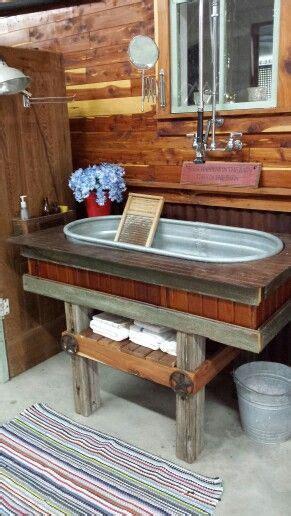 water troughutility sinkrustic rustic bathrooms