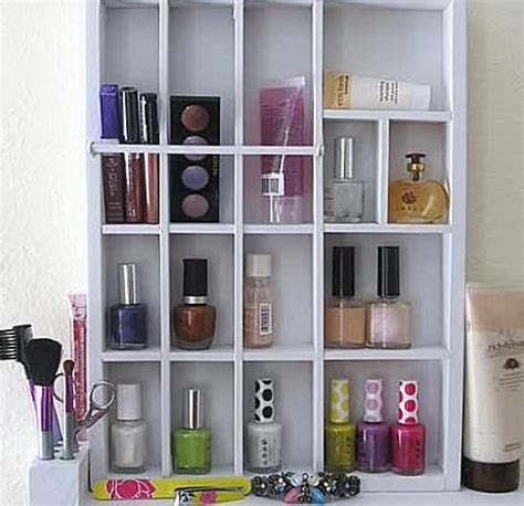 bed room hanging or shelf top cosmetic organizer tabletop