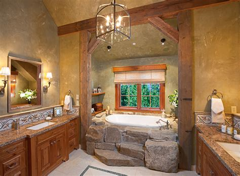 homey country rustic bathroom by lynette zambon carol