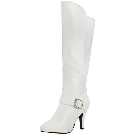 White High Heel Boots   Is Heel