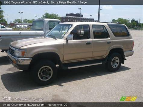 1995 toyota 4runner sr5 v6 sierra beige metallic 1995 toyota 4runner sr5 v6 4x4 beige interior gtcarlot com vehicle