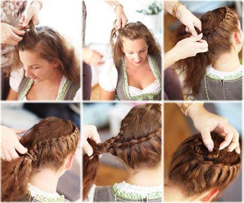hairstyles for oktoberfest oktoberfest style hairstyle diy oktoberfest dirndl
