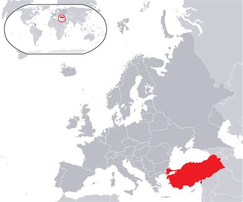 turkey on the map of europe file location turkey in europe png