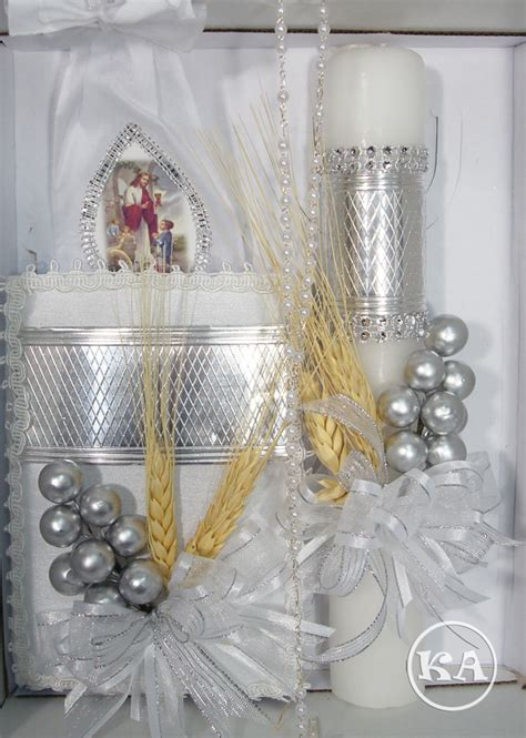 Holy Communion Candle Decoration by Communion Candle With Silver Boy