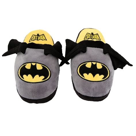 childrens batman slippers stompeez boys and batman slippers large children s