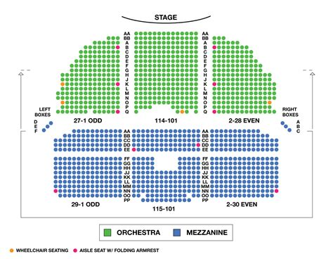 charter seating chart nederlander theater seating chart brokeasshome