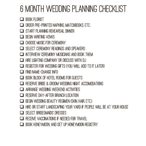 Wedding Checklist By Month For 6 Months by 6 Month Wedding Timeline Archives Bexbernard Home Diy