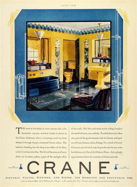 Crane Bathroom Fixtures 1929 Ad Crane Fixtures Piping Bathroom Tiles Bathtub Chair Sink Industry Decor Ebay