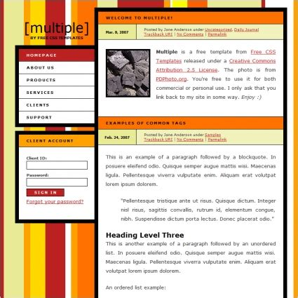 Multiple Free Website Templates In Css Html Js Format For Free Download 13 10kb Freecsstemplates Org Templates