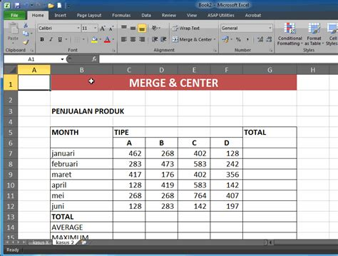excel 2010 consolidate tutorial merge cell in microsoft excel 2010 kasusx