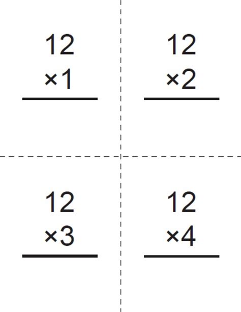 free printable multiplication flash cards up to 12 worksheets flashcards of multiplication opossumsoft